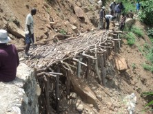 Rebuilding traditional irrigation structures
