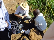 Collecting soil samples