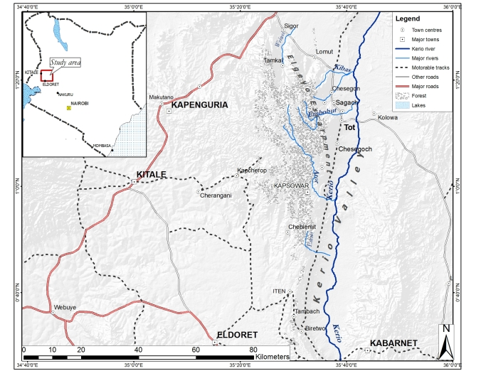 Marakwet location map