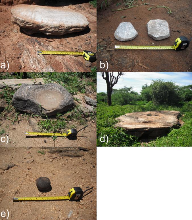 Various grinding stones in Marakwet
